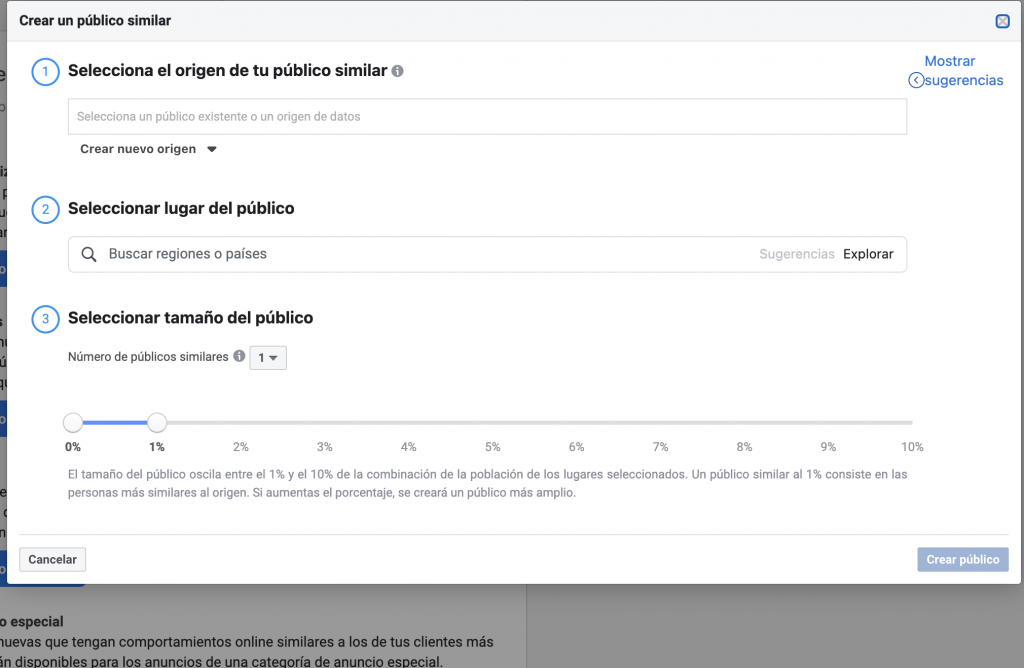 crear audiencias similares en facebook ads